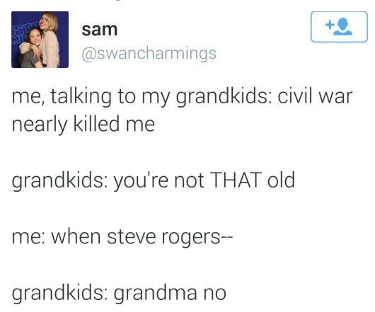 ''Civil War nearly killed me.'' THAT WILL BE ME. / Captain America : Civil War