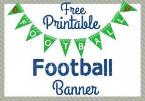 Free Printable Football Banner