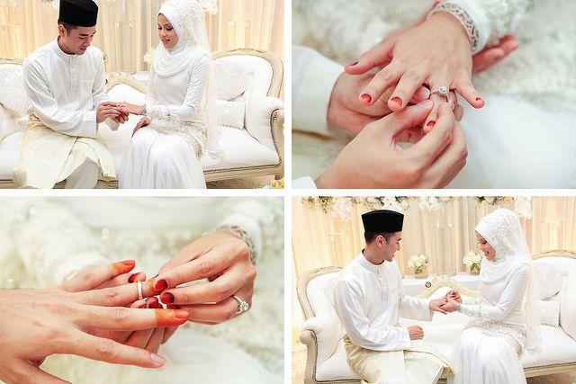 Beautiful 'exchanging ring' ceremony. Hafeez + Khairina Episode 1 - AfnanOmar