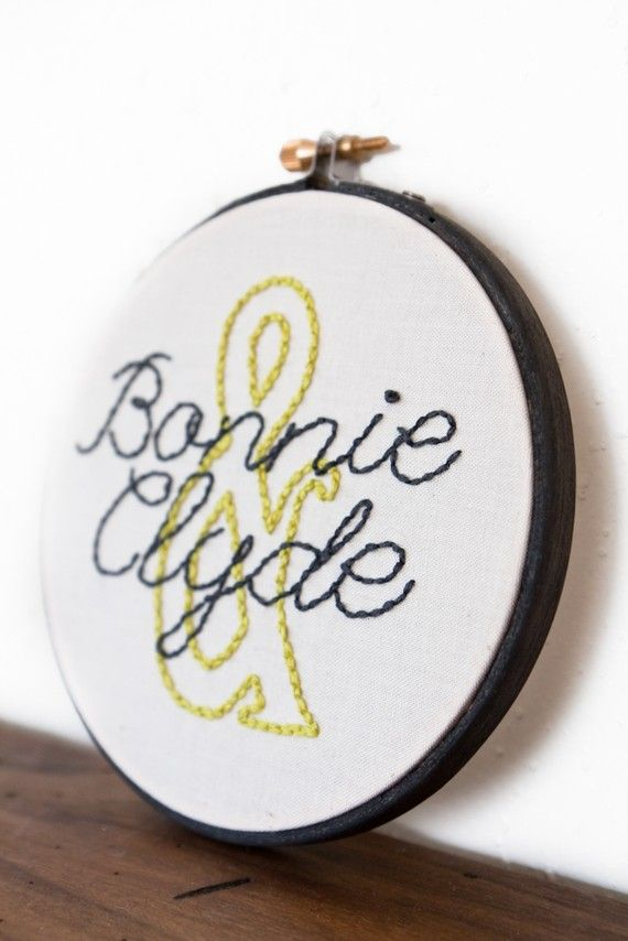 embroidered names. does this look like it belongs in an old womans home, or is it awesome?