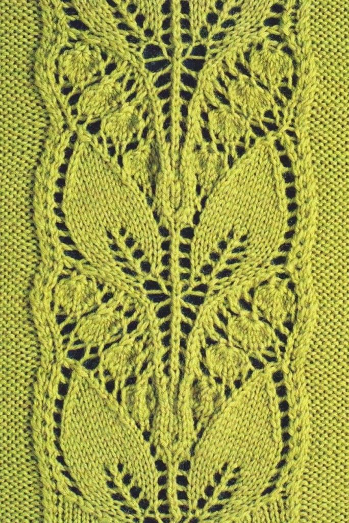 Leafy Knitted Lace Panel ⋆ Knitting Bee                                                                                                                                                                                 More