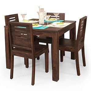 Buy 4 Seater Wooden Dining Sets Online In India