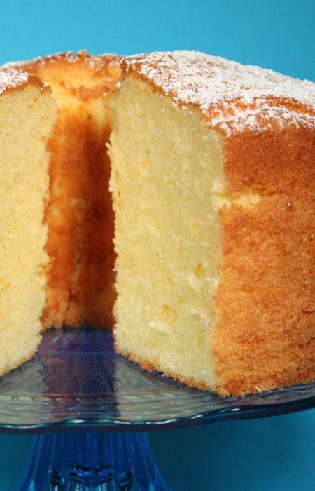 Citrus Chiffon Cake recipe from Jenny Jones (JennyCanCook.com) - Light as a feather, fragrant, and not too sweet. #JennyCanCook