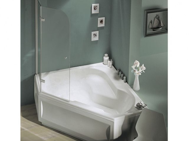 43 best salle de bain images on pinterest angles bathroom ideas and home - Baignoire angle 130x130 ...