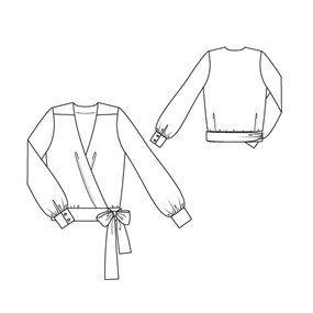 11/2010 Wrap blouse #109