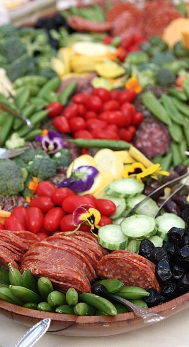 amazing outdoor platter.***perfect for the party all on one platter make several and you are all done for snacks ..