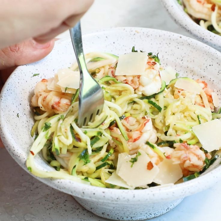 Healthy Shrimp Scampi