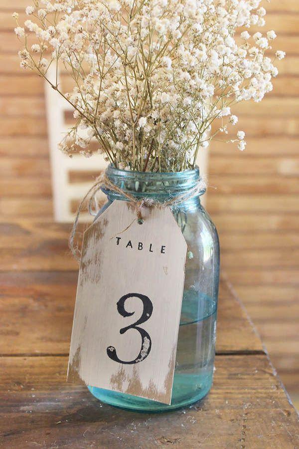 Tischnummern Hochzeit - Bilder - Jolie.de