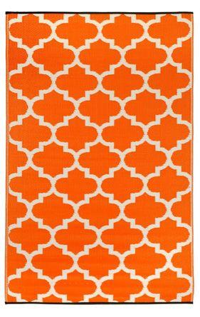 Earth de Fleur Homewares - Tangier Carrot Indoor Outdoor Mat