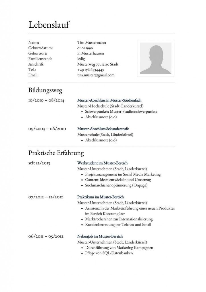 31 best Lebenslauf Vorlagen & Muster images on Pinterest | Cv