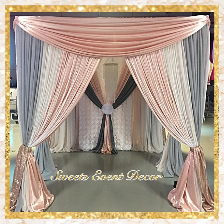 decoration corners wedding idea stylish cheap image popular of organza draping drapes fabric mirror gallery white design download picturesque ideas for decorations