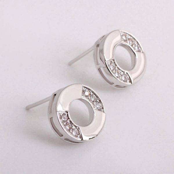 Find More Stud Earrings Information about Simple Style 925 Sterling Silver Stud Earrings for Women 2014 New Fashion Earring…
