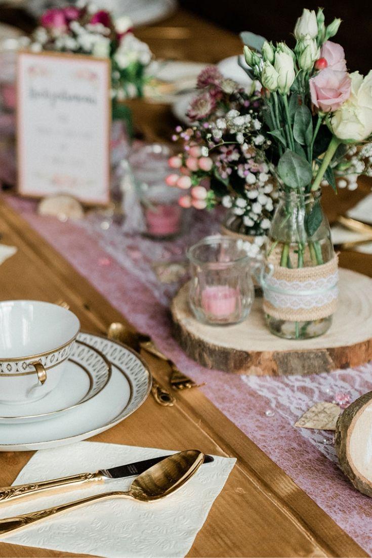 Tischdeko Vintage Tischdeko Hochzeit Vintage Tisch Dekorieren Rosa Tisch