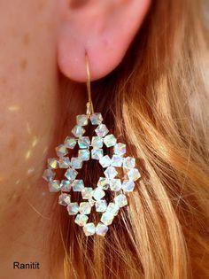 Swarovski Earrings/ Beaded Earrings/Beaded Jewelry/ by Ranitit
