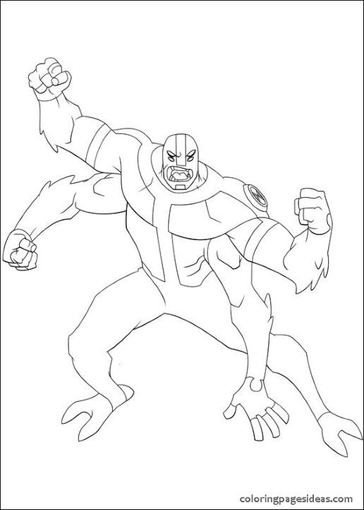 Ben 10 Coloring Pages Way Big