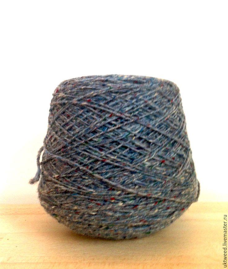 Купить Пряжа Калкара Твид. 100% шерсть. оттенок 4896 - серый, пряжа, пряжа для вязания