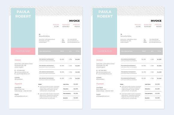 Canva Invoice Invoice Template Receipt Template Stationery Templates