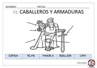 Fichas de complemento para el proyecto de 5 años sobre los castillo.