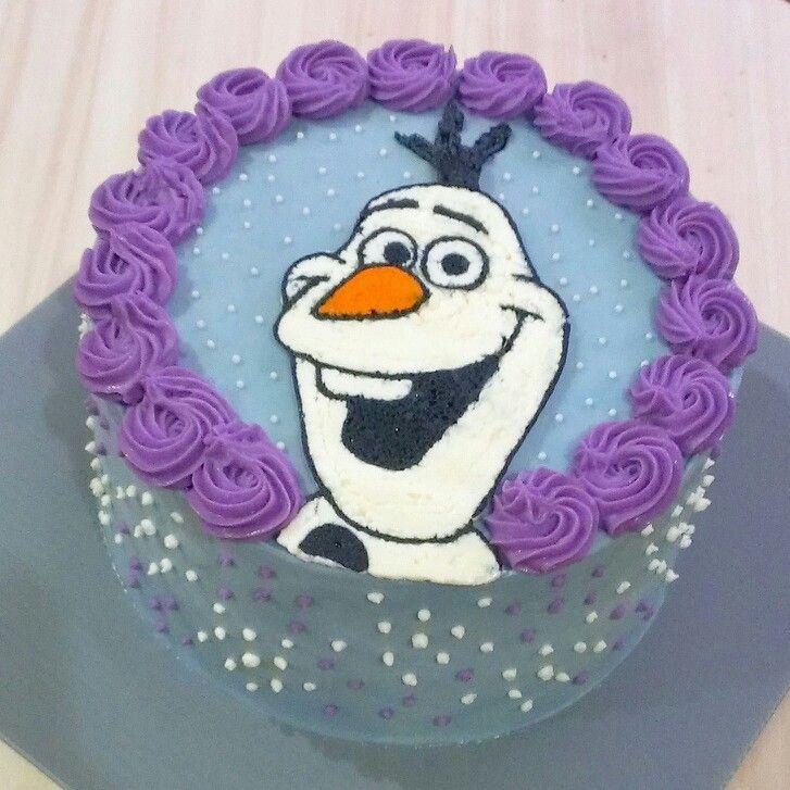 Cake Decorating Frozen Buttercream Transfer : Used the frozen buttercream transfer method for Olaf. The ...