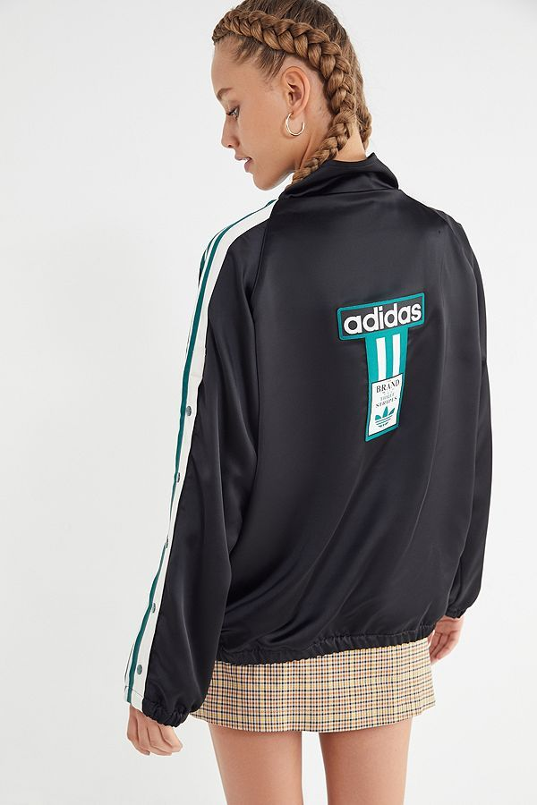 Slide View  1  adidas Originals Adibreak Satin Track Jacket  30fe07ebabf