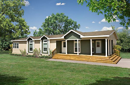 Mobile Home Remodeling Ideas Half Wrap Front Deck And
