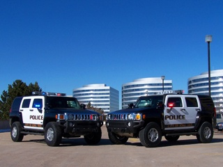 Lone Tree Police Department, CO. H-3 Hummers used for patrol and search and rescue operations.
