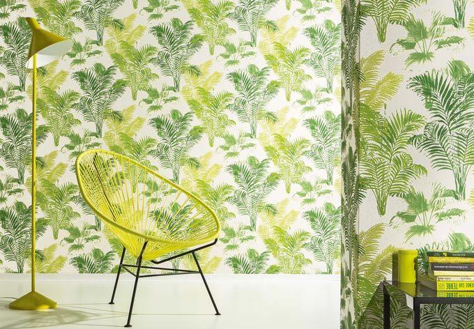 A.S. Création tapet Bali, gul, grøn | wall-art.dk