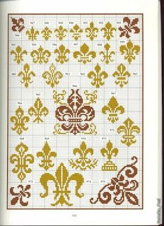 Вышивка крестом / Cross stitch : Геометрические узоры - This is for New Orleans, Louisiana, my home town! The fleur de lis is represents Louisiana, named after King Louis of France.