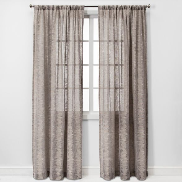Richter Clipped Sheer Curtain Panels Project 62 In 2020 Panel