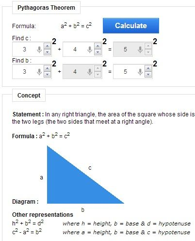 Pythagoras Theorem Calculator