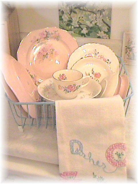 vintage dishes | Vintage Pink Rose Dishes | Flickr - Photo Sharing!