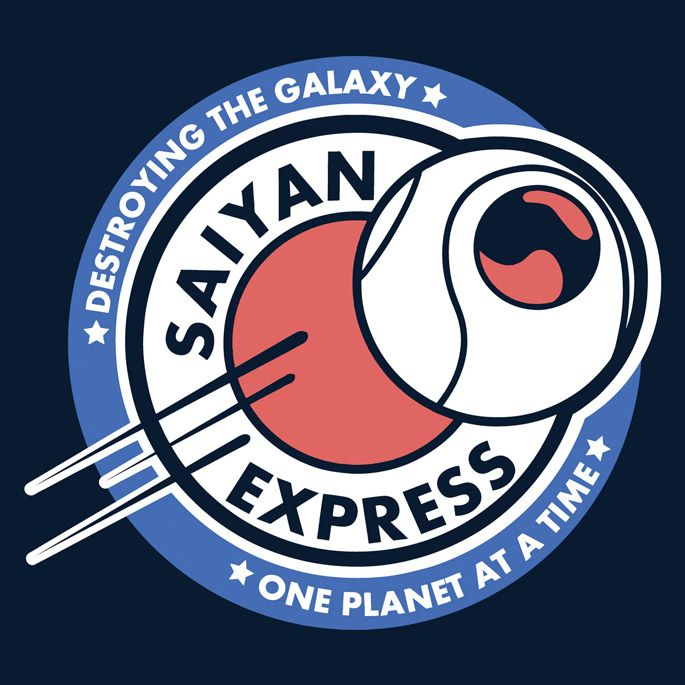 SAIYAN EXPRESS T-Shirt | $10 Dragon Ball Futurama mashup tee from ShirtPunch today only!