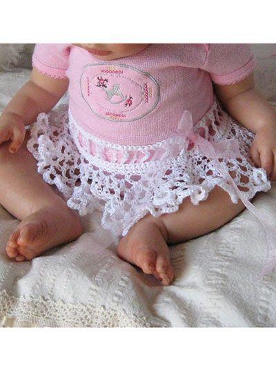 Crochet Lace Baby Tutu & Headband