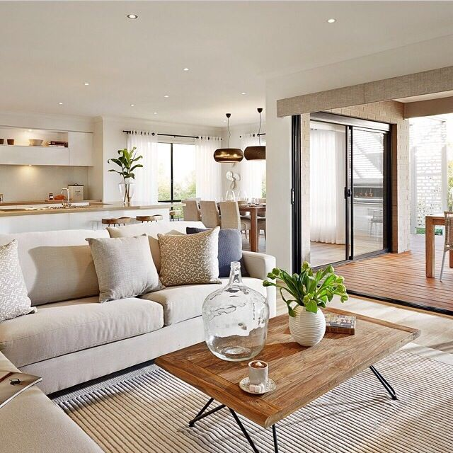 Lounge room open plan colours