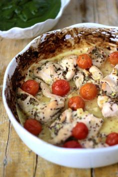 Bifinhos de Frango com Tomatinhos e Molho de Mostarda e Limão