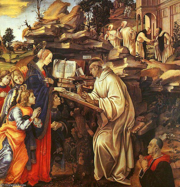 'le vision des saint `bernard`', 1485 de Paolo Uccello (1397-1475, Italy)