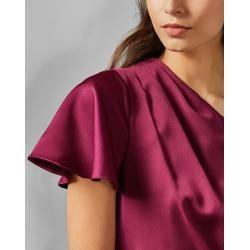 Schulterfreies, Asymmetrisches Kleid Mit Raffungen Ted Baker