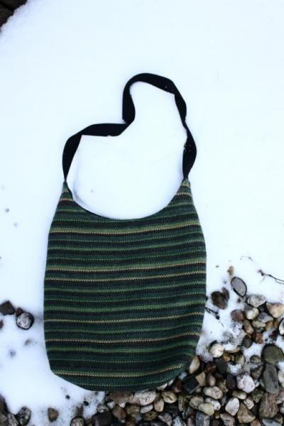 Tkaná taška zelená