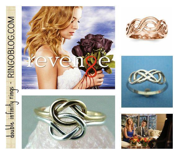 Revenge - Emily Thorne - Double Infinity Rings and jewelry. #REVENGE on ABC! Via RingOBlog.com