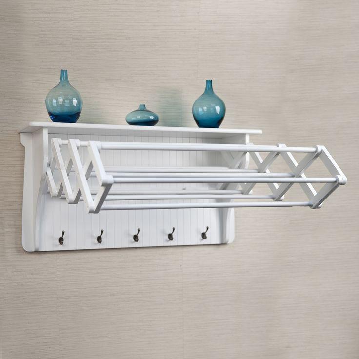 Danya B Accordion Drying Rack, White (Wood)