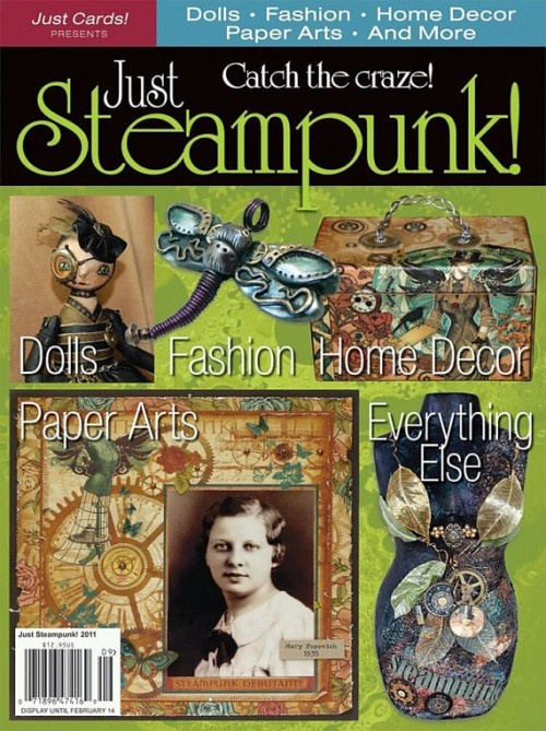 A magazine from Just Cards devoted to crafting all things steampunk. Looks wonderful!