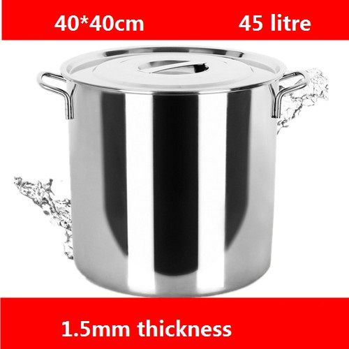 free shipping 1.5mm stainless steel bucket thick with lid for storage water bucket drums barrels stainless steel barrel soup