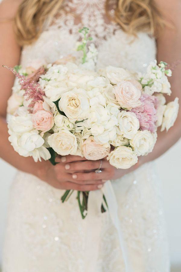 White and cream bridal bouquet