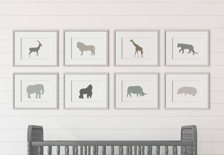Animal Nursery Prints, Animal Nursery Decor, Animal Nursery Art, Animal Nursery Wall Art, Animal Nursery Wall Decor, Zoo Nursery Decor, JPG by PrintablesbyOakHouse on Etsy https://www.etsy.com/nz/listing/559423235/animal-nursery-prints-animal-nursery