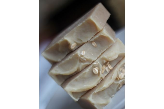 Oatmeal Milk and Lavender Olive Oil Soap by O!live Real.  Pure.  Natural on hellopretty.co.za