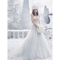 Великолепный Чистый Белый Свадебные Платья Без Бретелек Из Бисера Аппликации 2016 Кристаллы Из Бисера Люкс Свадебные Платья Часовня Поезд