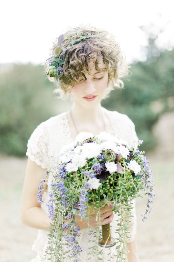 Naturalist Wedding Inspiration on Ruffled, photography by Brumley & Wells / Wedding Flowers, Vintage Furniture, and Hand Drawn Butterflies: Wendy Francisco