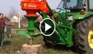 Mother of all stump grinders, the John Deere 8100 - Blooper News - News by you…