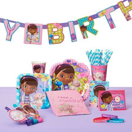 Doc McStuffins Invite and Thank You Combo, 8 Pack, Party Supplies