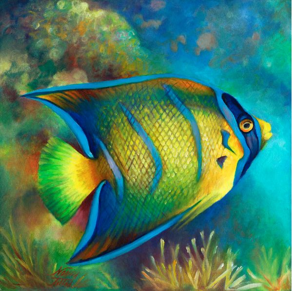152 best sea life art images on pinterest sea life art for Sea life paintings artists